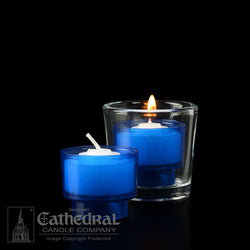 4-Hour Blue EZ Votive Lights - GG714-B