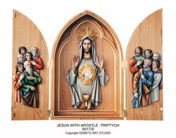 Jesus with Apostle Triptych - HD5017S