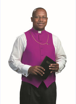 Church Purple Clergy Vest - OF502