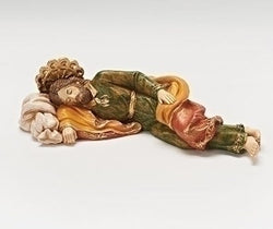"Sleeping St. Joseph Statue Fontanini Collection 6.5"" - LI54111"