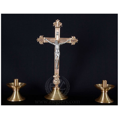 Altar Crucifix and Candlestick Set- DO1965SET
