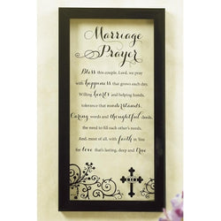 Marriage Prayer Glass Print - GE56020