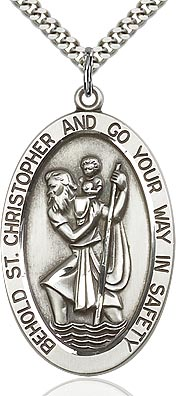 St. Christopher Medal - FN5851SF24S