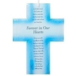 Glass Memorial Cross - LI59001