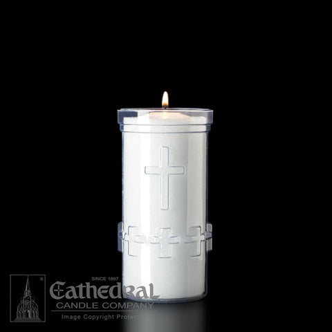 5-Day Crystal Raised Cross Candle - UM794