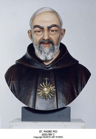 St Padre Pio - Bust - HD60088C