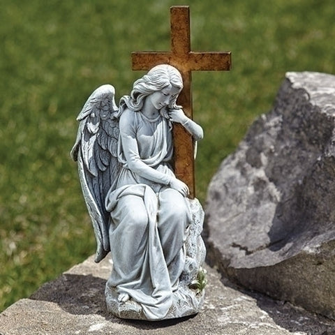 Memorial Angel with Cross - LI603212