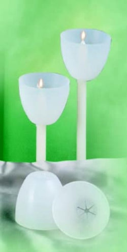 "UM1788 - 25 Natural Plastic Shields for 17/32"" Candles"