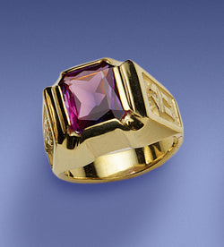 Bishop's Amethyst Octagon Ring - DO4369