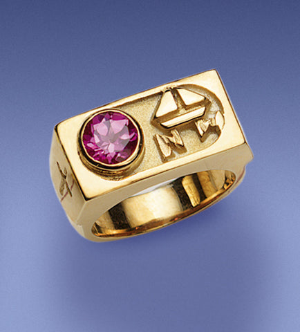 Bishop's Amethyst and Sterling Ring - DO4376