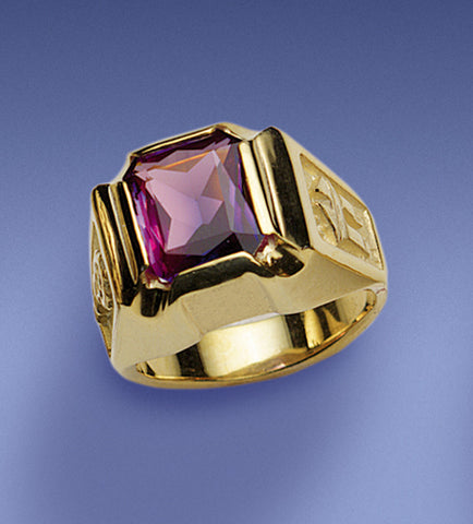 Bishop's Amethyst Octagon Ring - DO4370