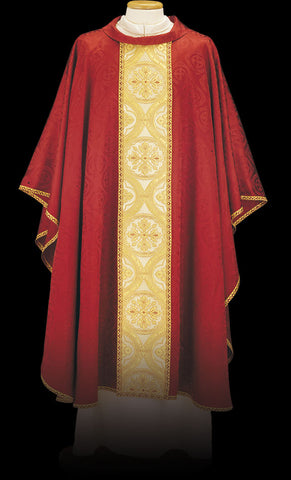 Red Broderie Chasuble with Gold  - MK65/043010