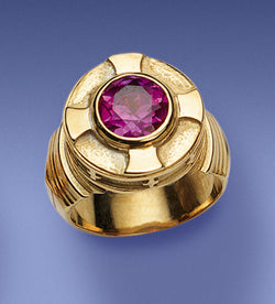 Bishop's Amethyst and 14k Gold Ring - DO4385
