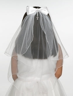 Jessica Communion Veil with Bow - LI65392