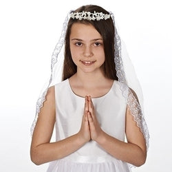 Kate Communion Veil with Pearl Tiara - LI65394