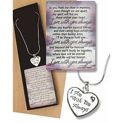 I am With You Always Necklace and Card - EF36101