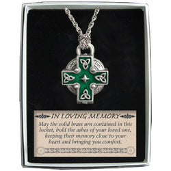 "Celtic Memorial Locket on 24"" chain - GEAL104"