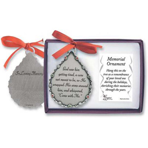 Tear Drop Shaped In Loving Memory Ornament - GECO514