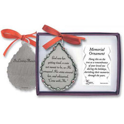 Tear Drop Shaped In Loving Memory Ornament - GECO515