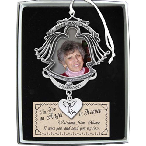 Forever in Our Hearts Angel Frame Ornament - GECO740