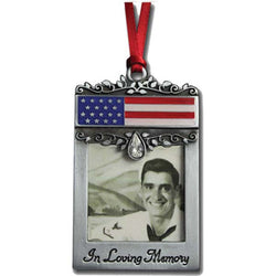 Patriotic Picture Frame Ornament - GECO744