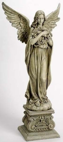 Angel Holding Wreath Figure - LI47623