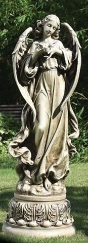 Angel with Dove Garden Figure - LI47624