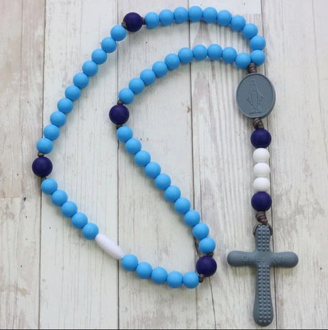 Chews Life: Sky and Indigo Rosary - NE03454