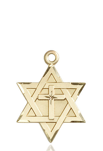 Star of David W/ Cross Medal - FN1212YKT