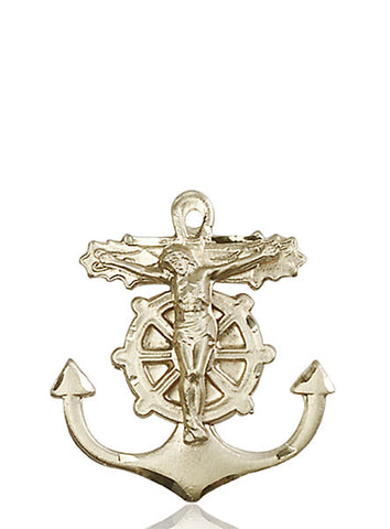 Anchor Crucifix Medal - FN5685KT