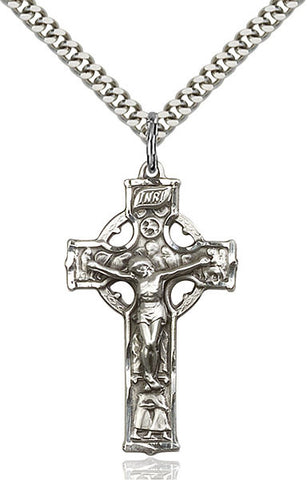 Celtic Crucifix Medal - FN5440SF24S