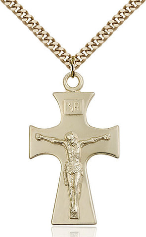 Celtic Crucifix Medal - FN5674GF24G