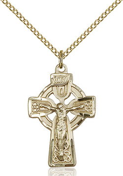 Celtic Crucifix Medal - FN5684GF18GF