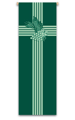 Eucharist, with wheat design and grapevine  Banner