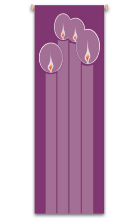 ADVENT, CANDLE  BANNER - WN7119