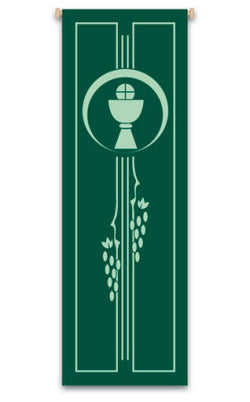 CHALICE, HOST AND GRAPEVINE BANNER - WN7128