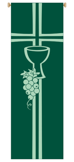 CHALICE AND GRAPEVINE BANNER - WN7152