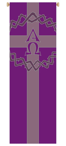 CROWN OF THORNS, ALPHA-OMEGA BANNER - WN7155