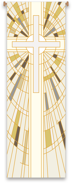 White Cross Banner - WN7505