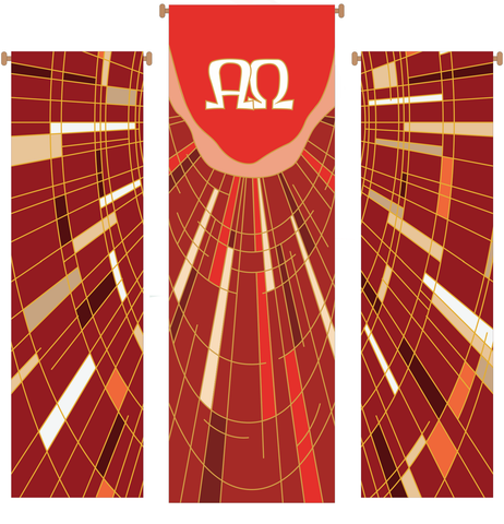 Alpha and Omega 3 Piece Banner Set - WN766-75139