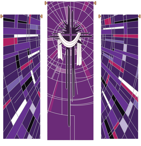 Lenten Cross 3 Piece Banner Set - WN766-75189