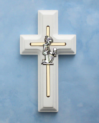White Cross with Communion Girl- HX77308