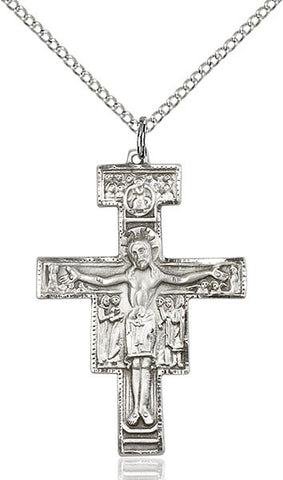 San Damiano Crucifix Medal - FN6077SS18SS
