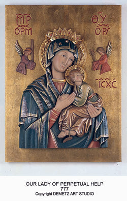 Our Lady of Perpetual Help - high relief - HD777