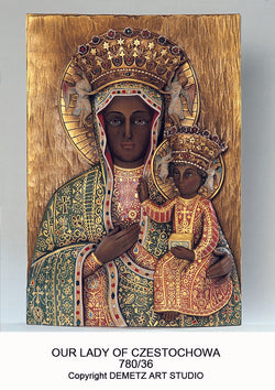 Our Lady of Czestochowa - High Relief - HD78036