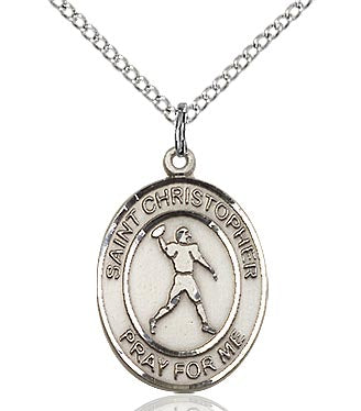 St. Christopher/Football Medal - FN8151SF18S