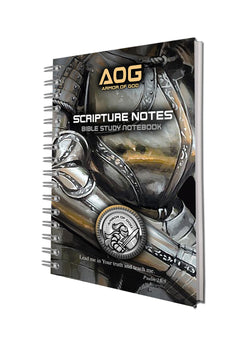 Armor of God Bible Study Notebooks in Black/Gold - ST81903