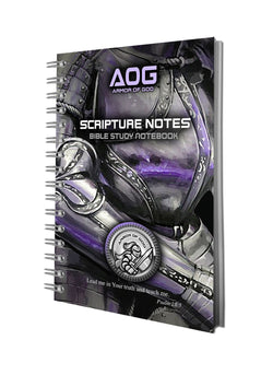 Armor of God Bible Study Notebooks in Black/Violet - ST81904
