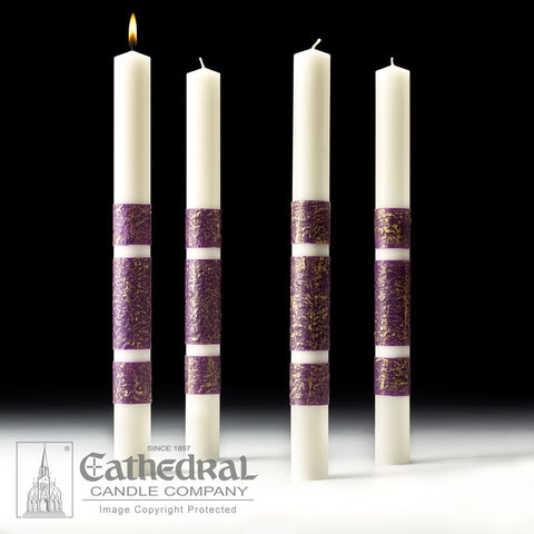 ArtisanWax™ Advent Candles - 4 Purple