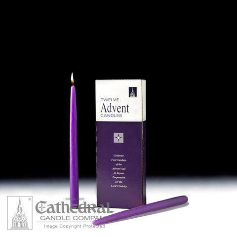 Bulk Replacement Advent Tapers for the Home - 12 Piece Sets - Purple - GG82702401
